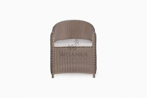 Molde Outdoor Rattan Patio Arm Chair front