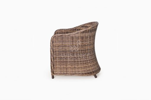 Molde Synthetic Rattan Outdoor Arm Chair side
