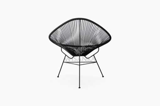 Relaxing Synthetic Rope Outdoor Chair rear