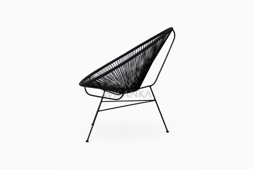 Relaxing Synthetic Rope Outdoor Chair side