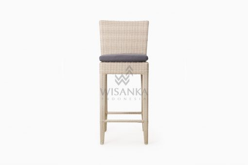 Victoria Bar Chair with Seat Cushion outdoor rattan furniture front