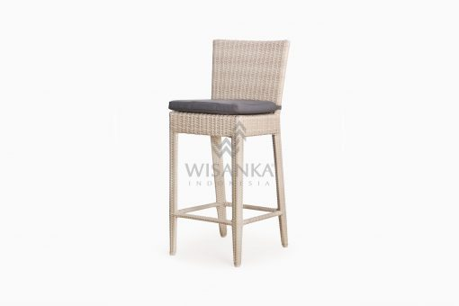 Victoria Bar Chair with Seat Cushion outdoor rattan furniture perspective