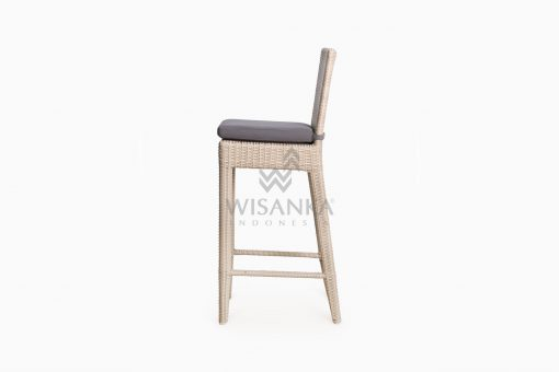 Victoria Bar Chair with Seat Cushion outdoor rattan furniture side