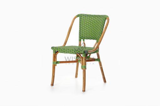 Yori Outdoor Rattan Bistro Chair perspective