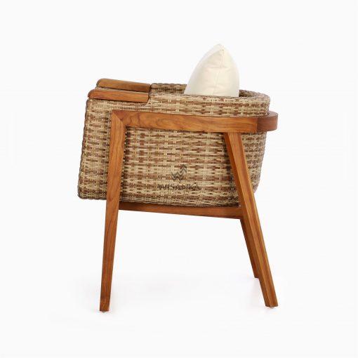Arka Terrace Chair - Outdoor Rattan Patio Furniture Side