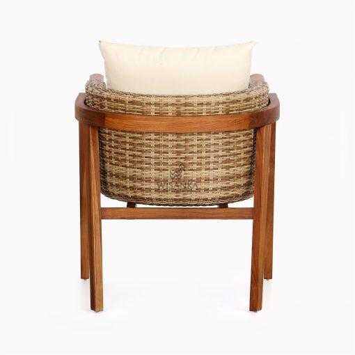Arka Terrace Chair - Outdoor Rattan Patio Furniture rear