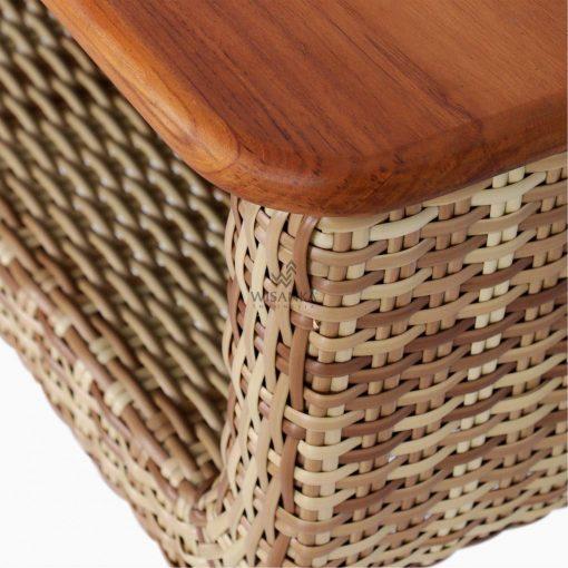 Arka Terrace Table - Outdoor Rattan Patio Furniture detail 1