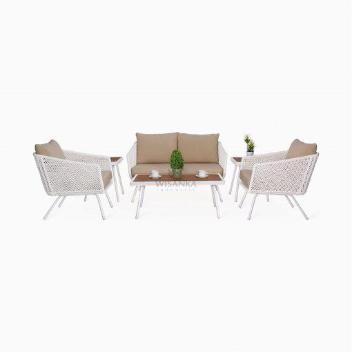 Clarendon Living Set - Outdoor Rattan Patio Furniture