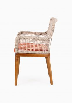 Fattana Dining Chair- Outdoor Rattan Patio Furniture side