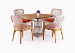 Fattana Dining Set - Outdoor Rattan Patio Furniture